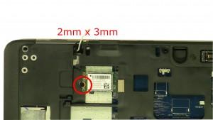 Remove screw (1 x M2 x 3mm).