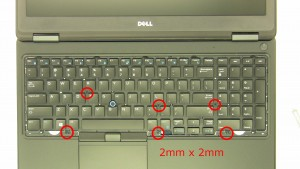 Remove screws (2 x M2x2mm).