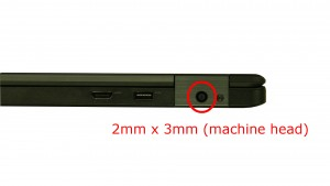 Remove right screw (1 x M2 x 3mm).