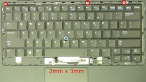 Remove the keyboard screws (3 x M2 x 3mm).