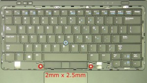 Remove the mouse button screws (2 x M2x2.5mm).