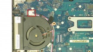 Unplug & loosen the speaker cable.