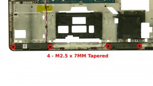 Remove the 4 - M2.5 x 7mm Tapered screws.