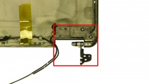 Remove the left & right LCD Hinges.
