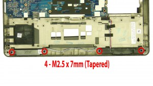Remove the 4 - M2.5 x 7mm Tapered.