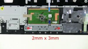 Remove the screw (2 x M2 x 3mm).