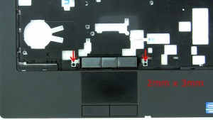 Remove the top mouse button screws (2 x M2 x 3mm).