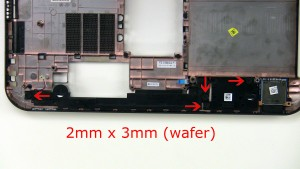 Remove the speaker screws (4 x M2 x 3mm wafer).