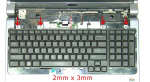 Remove the keyboard screws (4 x M2 x 3mm).