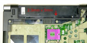 Remove the screw under the battery (1 x M2.5 x 5mm).