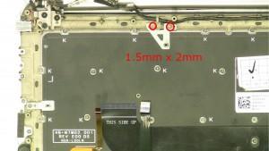 Remove the screws (2 x M2.5x2).