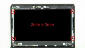 Remove screws (4 x M2 x 3mm).