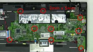 Remove screws (9 x M2 x 5mm).