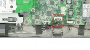 Unplug the audio board cable.