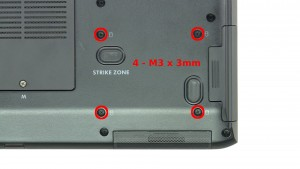 Remove the 4 - M3 x 3mm screws.