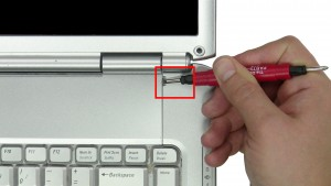 Carefully pry up & unsnap the Power Button Cover, starting on the right and working your way left.