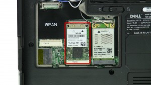 Remove the Wireless WLAN Card.
