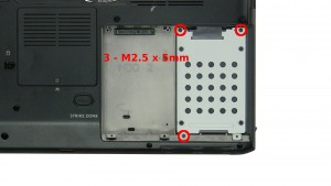 Remove the 3 - M2.5 x 5mm screws.