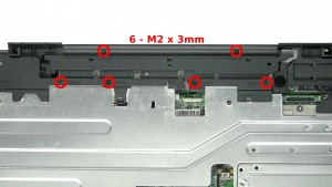 Remove the 6 - M2 x 3mm screws.