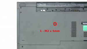 Remove the 1- M2 x 5mm screw.
