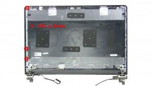 Remove the 3 - M2 x 3mm rail screws.