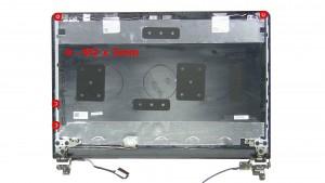 Remove the 4 - M2 x 3mm rail screws.