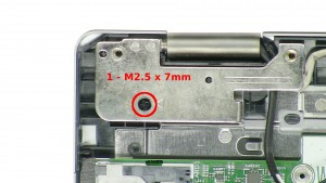 Remove the 3 - M2.5 x 8mm hinge screws.