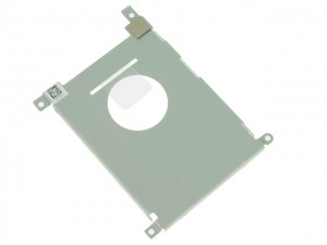 Remove the screws on both sides of the hard drive.