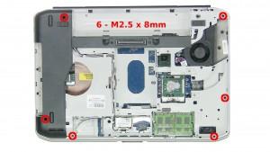 Remove 6 - M2.5 x 8mm the screws.