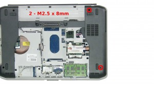 Remove the 2 - M2.5 x 8mm screws.