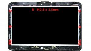 Remove the 8 - M2.5 x 3.5mm screws.
