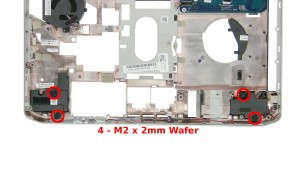 Remove the 4 - M2 x 2mm Wafer screws.