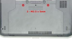 Remove the 2 - M2.5 x 5mm screws.