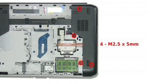 Remove the 4 - M2.5 x 5mm screws.