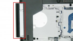 Slide the DVD Optical Drive out of the laptop.