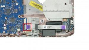 Unplug the USB audio circuit board cable.