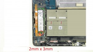 Unscrew and remove Solid State Drive (1 x