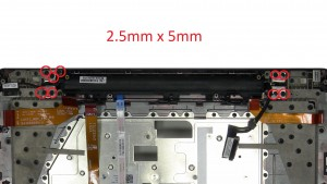 Unscrew and remove LCD Hinges (9x