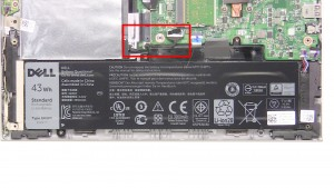 Unplug & loosen the hard drive cable.