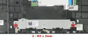 Remove the 2 - M2 x 3mm bracket screws.