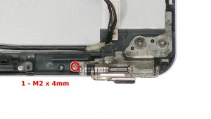 Remove the 2 - M2 x 4mm screws.