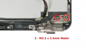 Remove the 4 - M2.5 x 2.5mm Wafer screws.