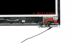 Remove the 10 - M2.5 x 4.5mm screen screws.