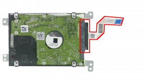 Remove the Hard Drive Connector.