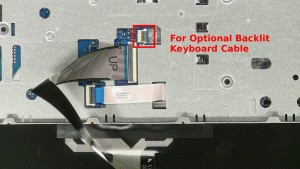 ***Cable slot for the backlit keyboard option.***