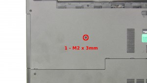 Remove the 1 - M2 x 3mm optical drive screw.