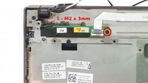 Remove the 1 - M2 x 3mm screws.