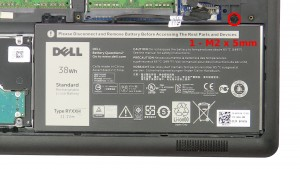 Remove the 1 - M2 x 5mm screw.