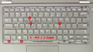 Remove the 5 - M2 x 2.5mm screws.