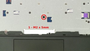 Remove the 1 - M2 x 5mm screw.